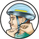 Σωστή εφαρμογή ποδηλατικού κράνους σε 4 βήματα