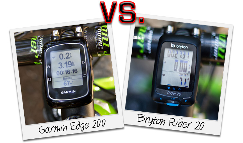 Garmin Edge 200 vs. Bryton Rider 20